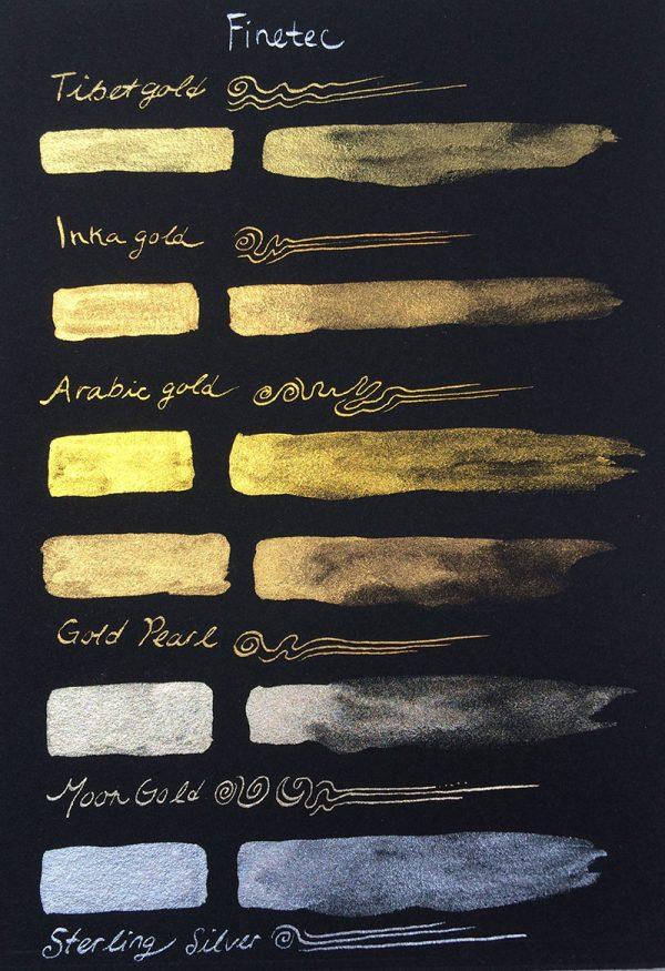 Finetec golds on black