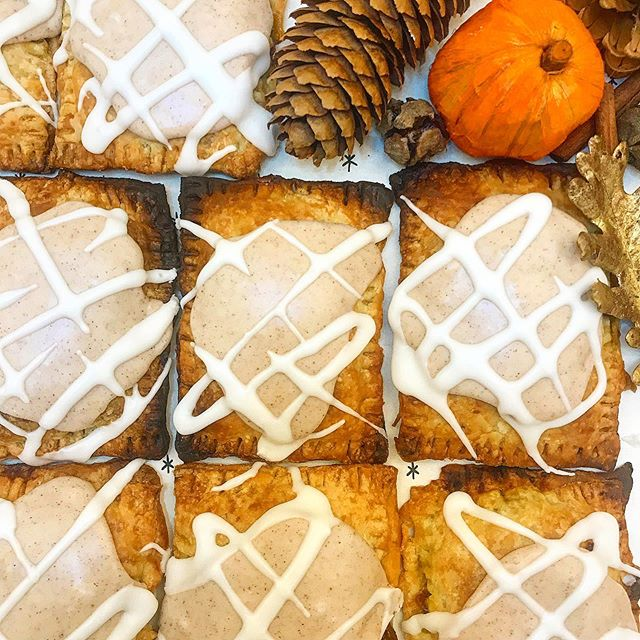 Pumpkin Spice Pop Tarts are back! Autumn is just around the corner, one of my favorite seasons! Find one today @therefinerynewburgh + @rivercityevansville ! OR, come see us at our LAST Newburgh Farmers Market of the season tomorrow morning from 8:00am-12:00pm! We will have plenty of fresh baked pastries, muffins, and cookies for you to choose from! We can't wait to see you there!