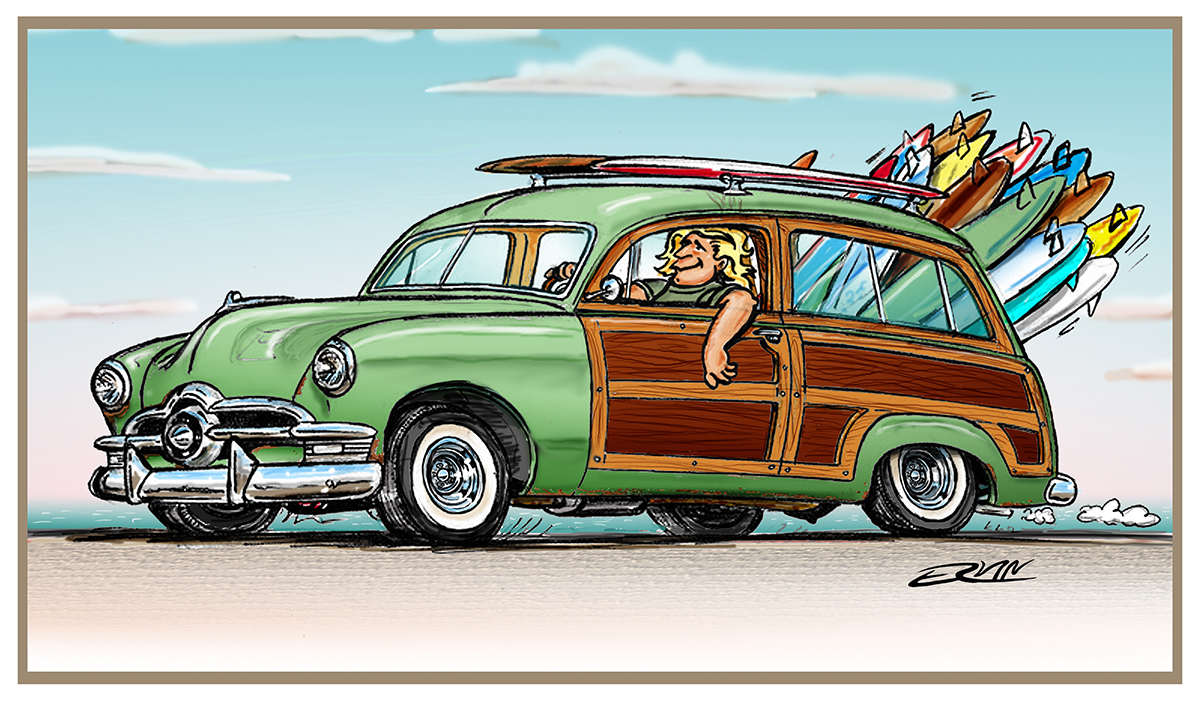 "Surf Joe Surf  (8x10-011)  8 x 10"" includes white framing border"