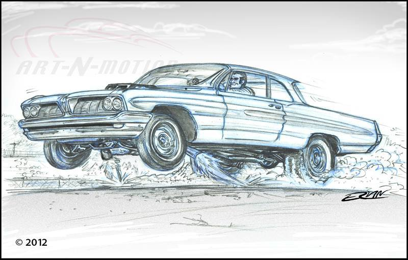"Air Ride: 1962 Catalina  (8x10-018)  8 x 10"" includes white framing border"
