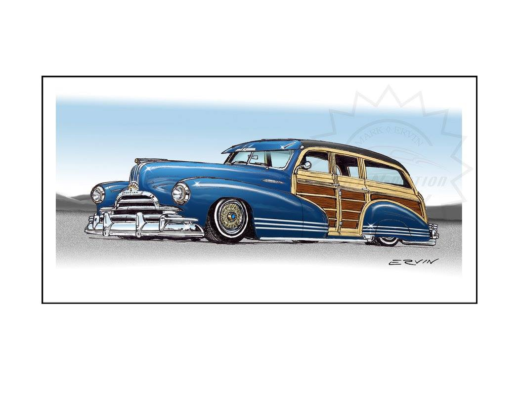 "1947 Pontiac Woody, Lowrider  (11x14-002)  11 x 14"" includes white framing border only  one  left"