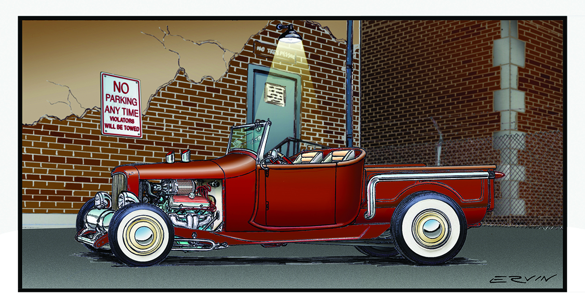 "1928 Roadster Pickup, Hot Rod  (11x17-001)  11 x 17"" includes white framing border ( two  left)"