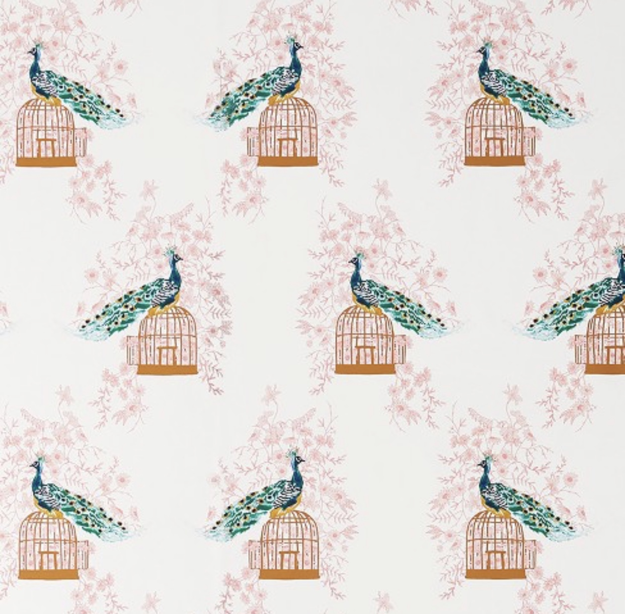 Peacock Peel and Stick Removable Wallpaper- Opalhouse