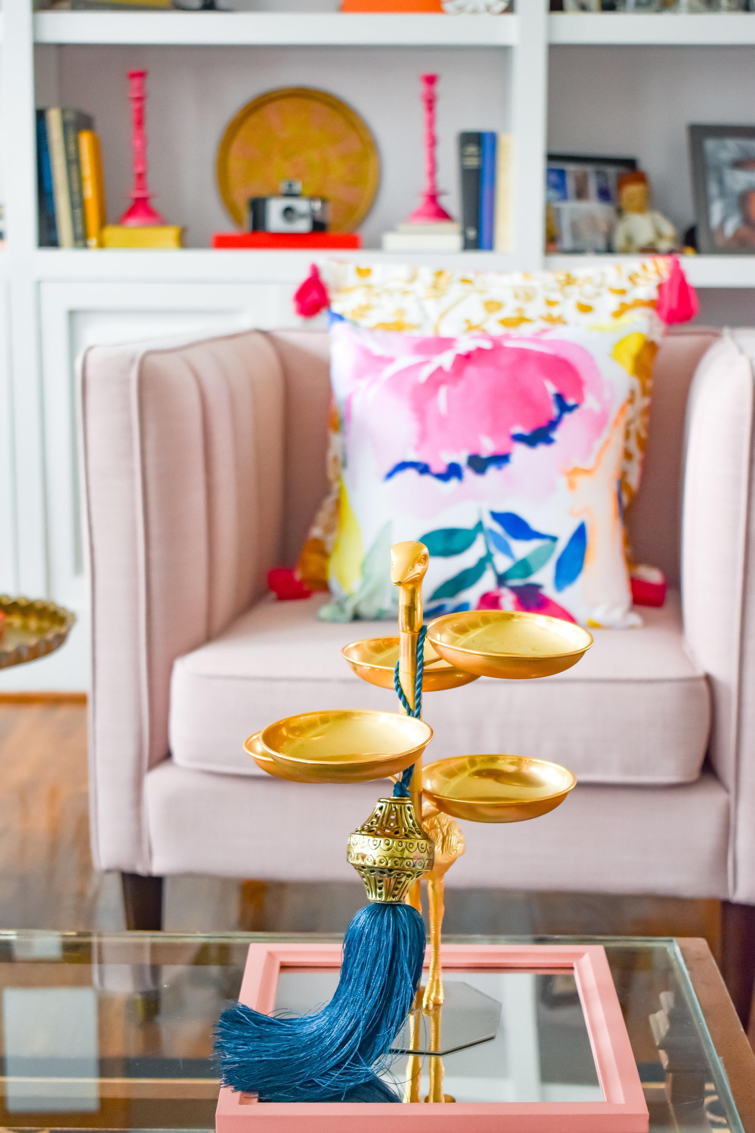 Tassel:  Boho Luxe Home  Mirror: Target Dollar Spot