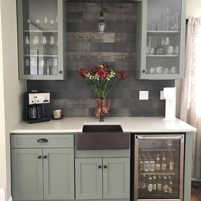 Shockingly Paul loves  this color combo  for his dream wet bar