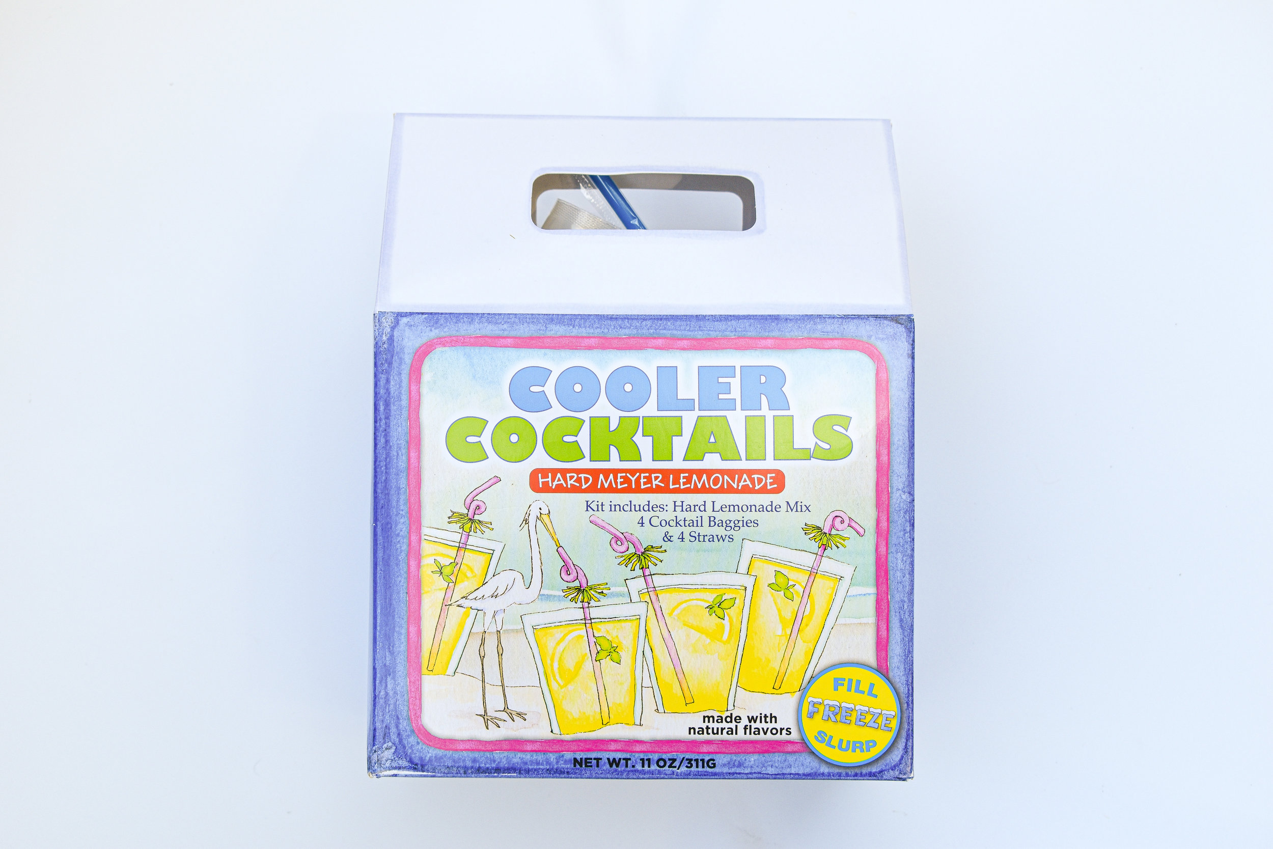 But wait, the cool factor just got even better with this hard lemonade kit! Just add the liquor and you're all set.
