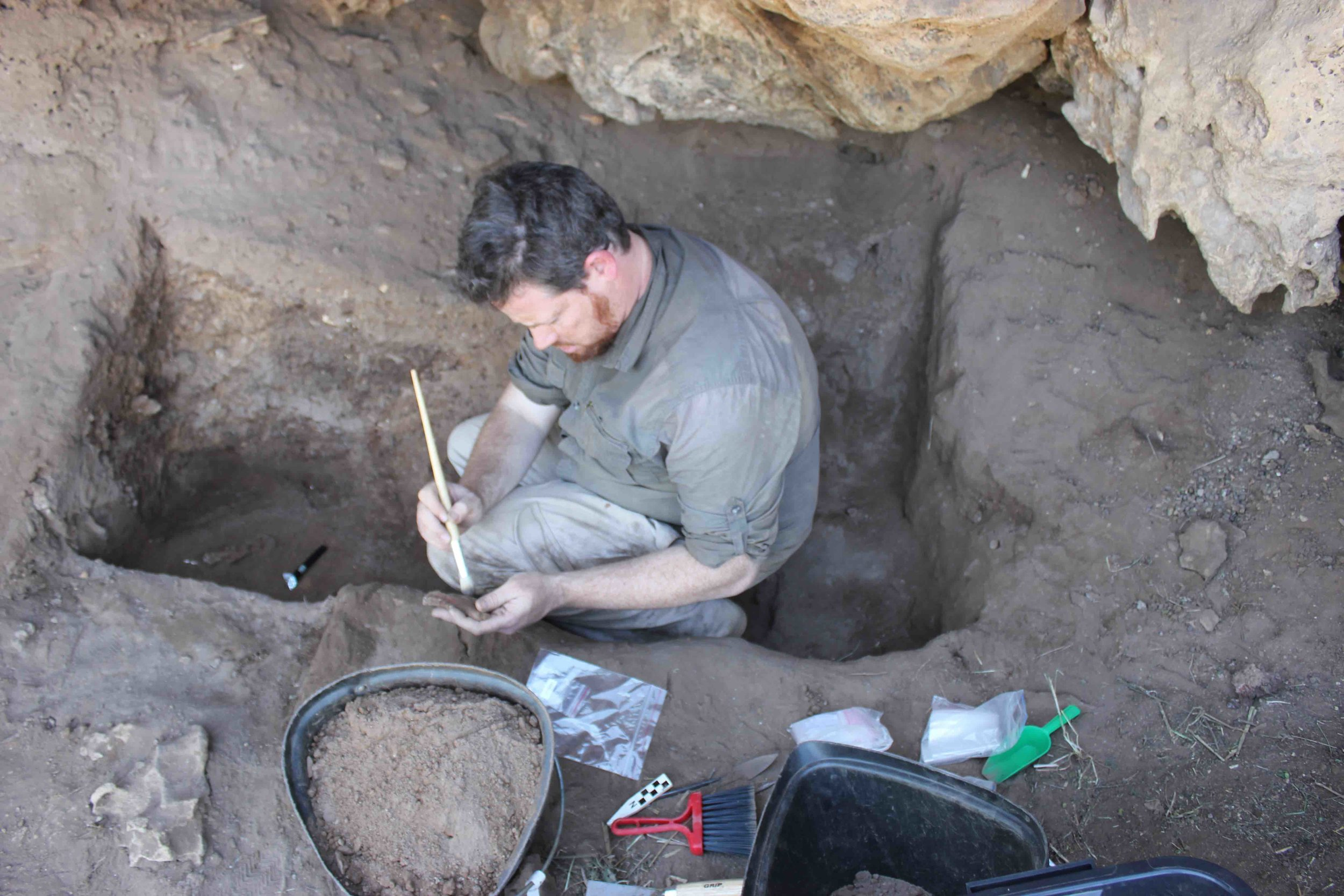 Prof Andy Herries excavating meticulously (SA 2015)