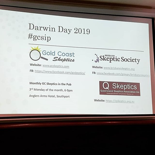 """Darwin day 2019. GARG presenting """"understanding human evolution one discovery at a time"""". #gcsip"""