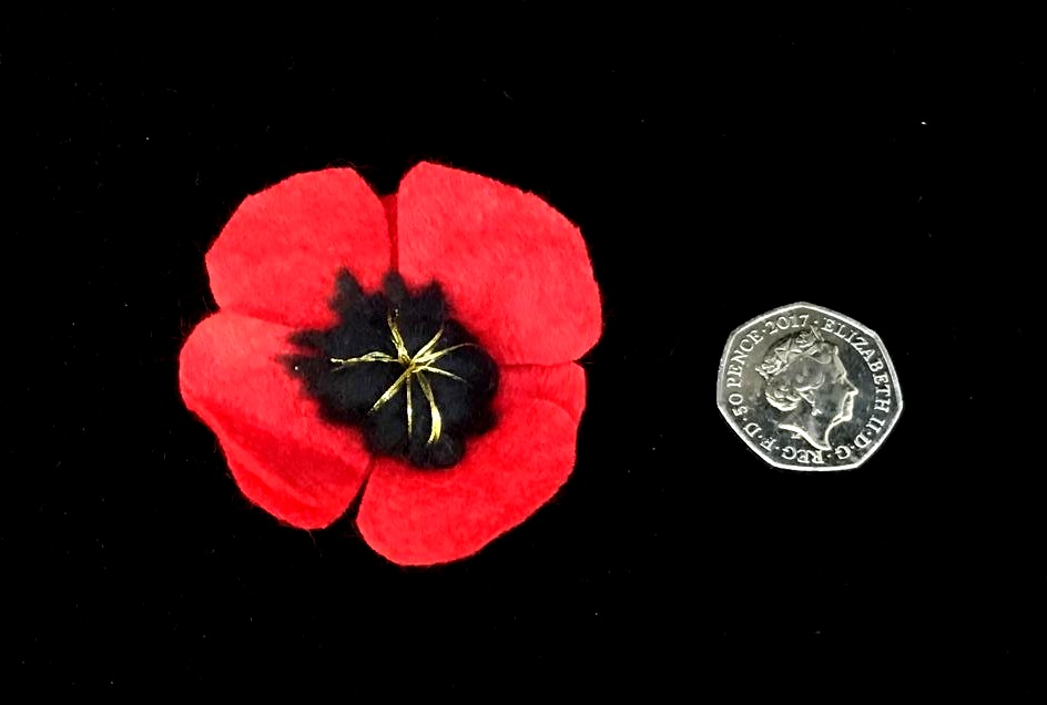 Brooch 'Remembrance Poppy' in Felt £7