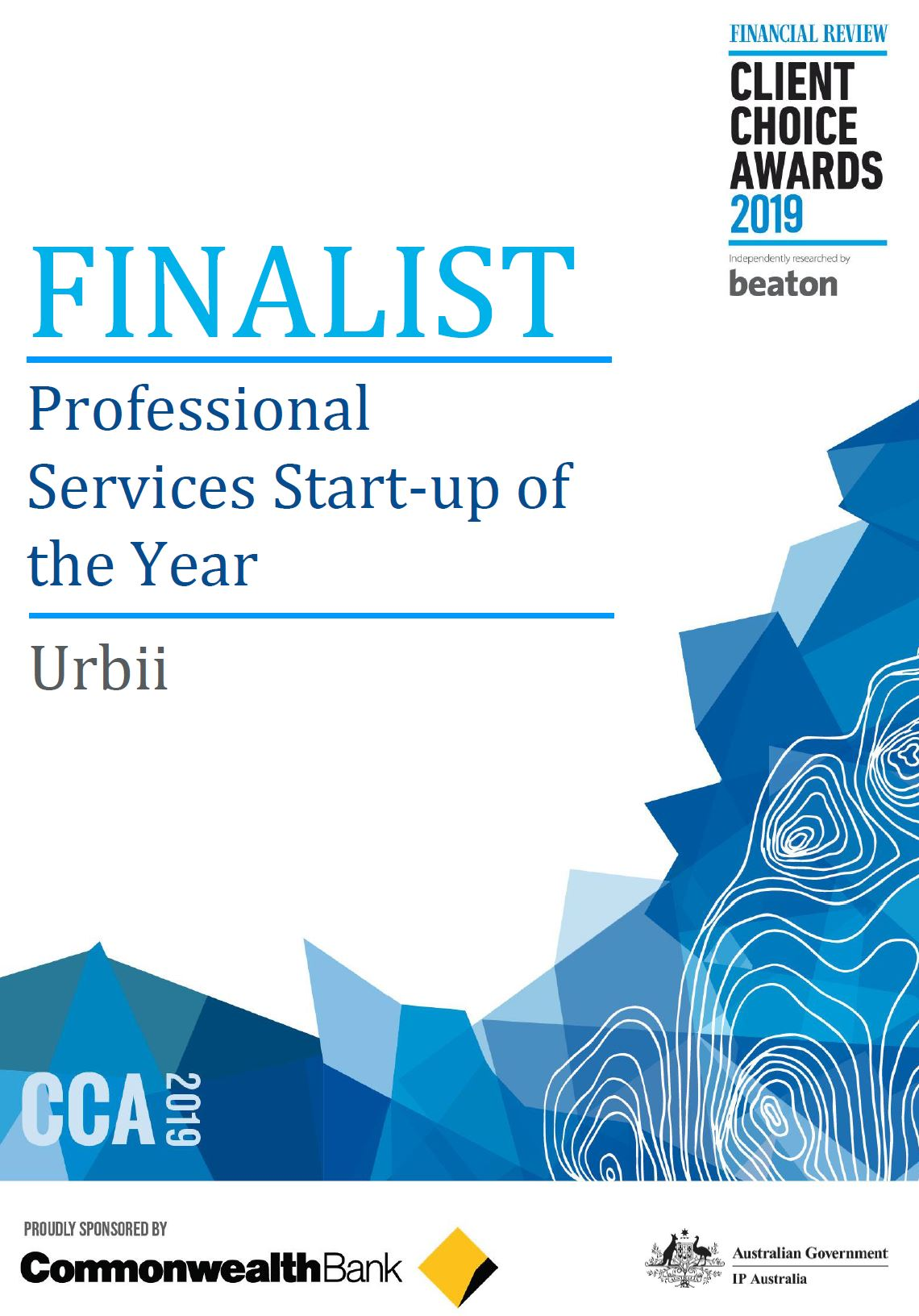 Startup of the year finalist certificate.JPG