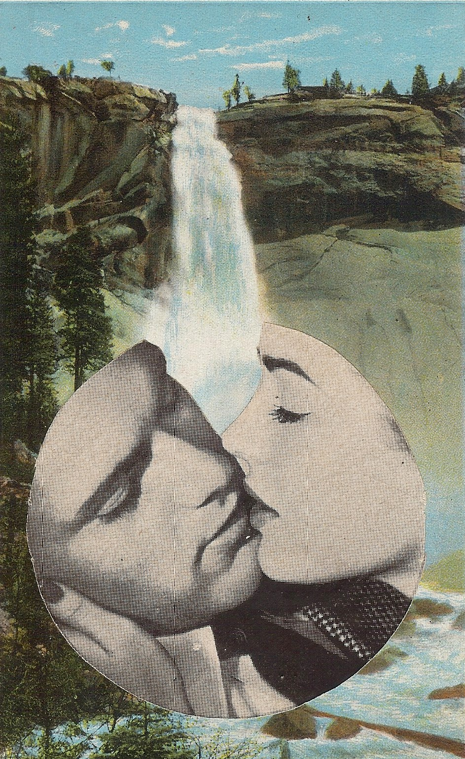 Remember our Honeymoon,     Vintage Postcard Re-Imagined