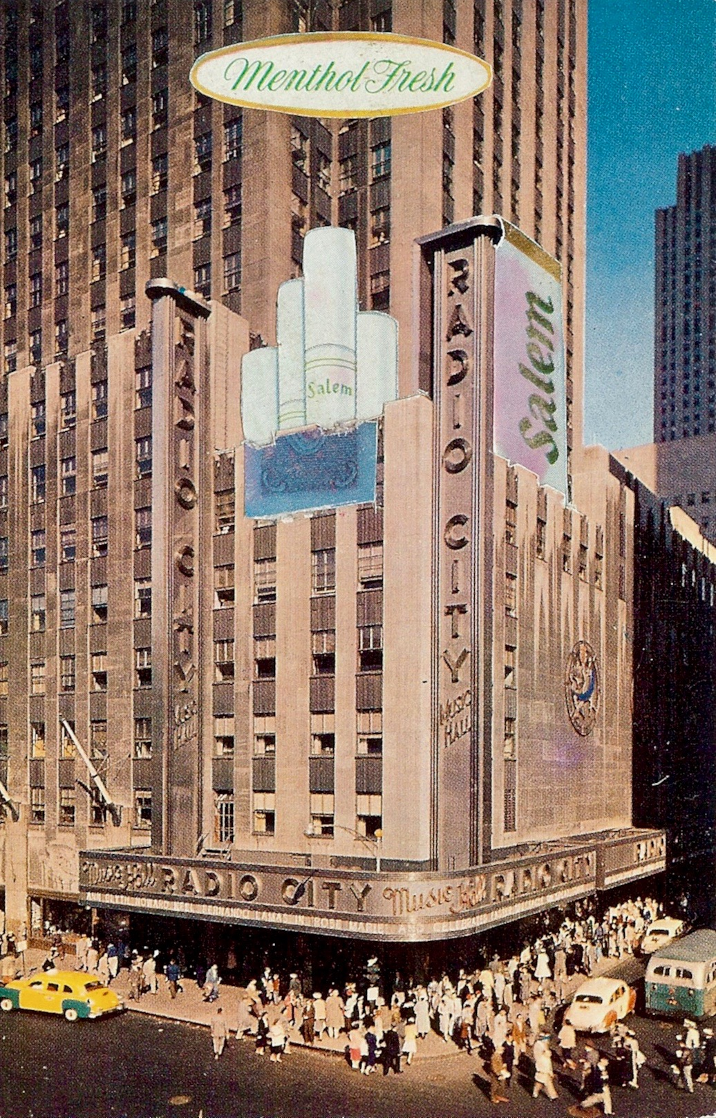 Radio City Smoking Hall ,  Vintage Postcard Re-Imagined