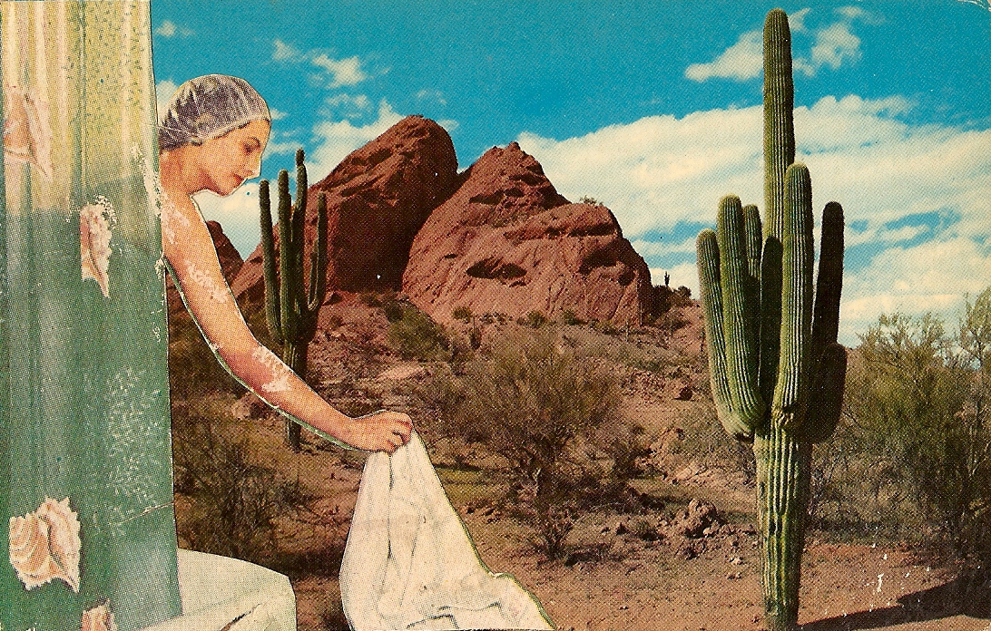 Desert Showers,   Vintage Postcard Re-Imagined