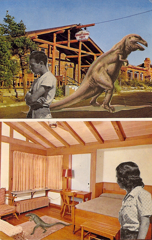 How was your Room?   Vintage Postcard Re-Imagined