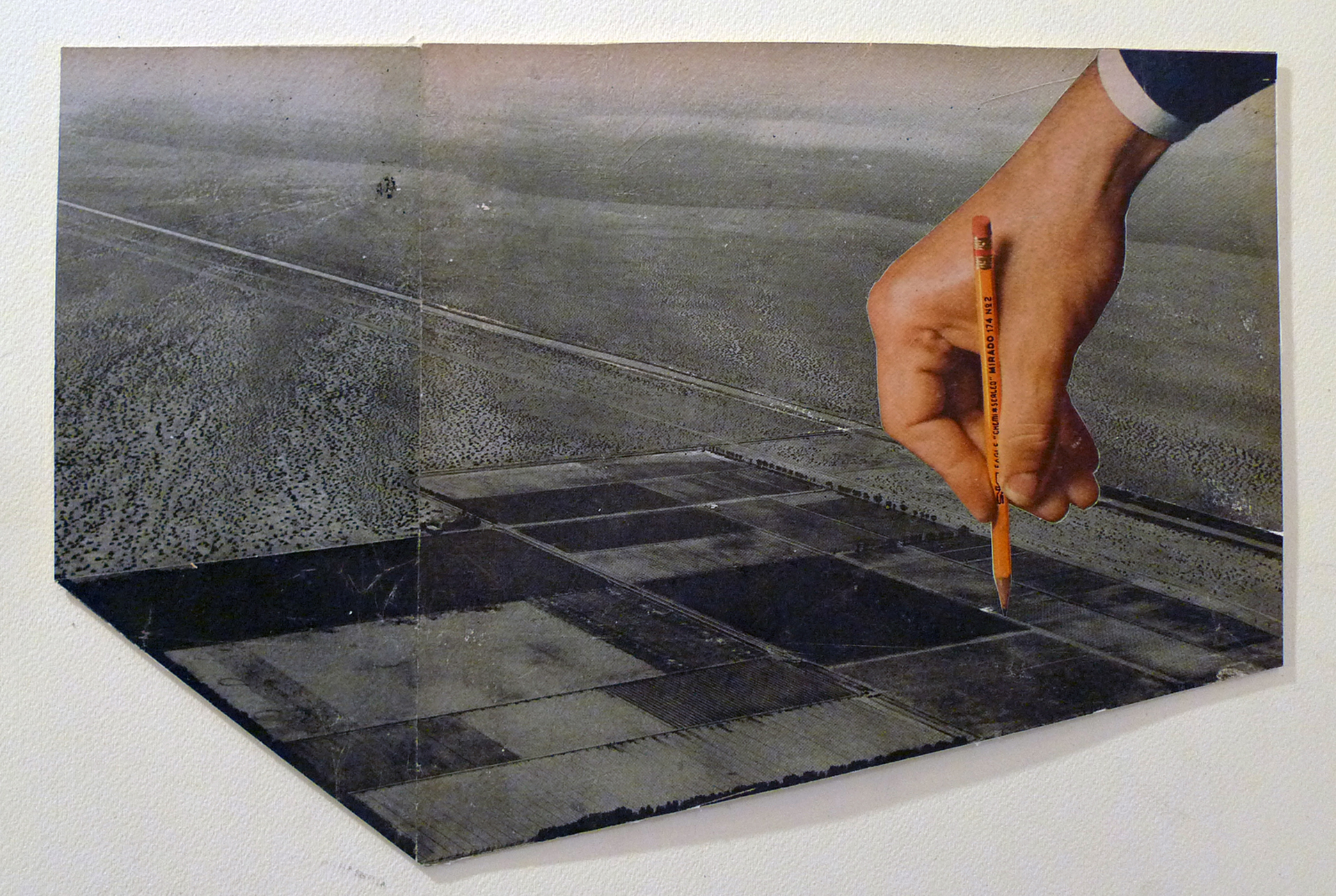 Draw a Line,   2015. Analog collage on paper