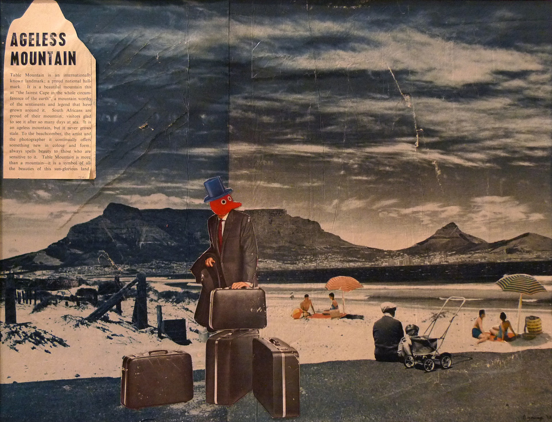 Ageless Mountain Business,   2015. Analog Collage on paper