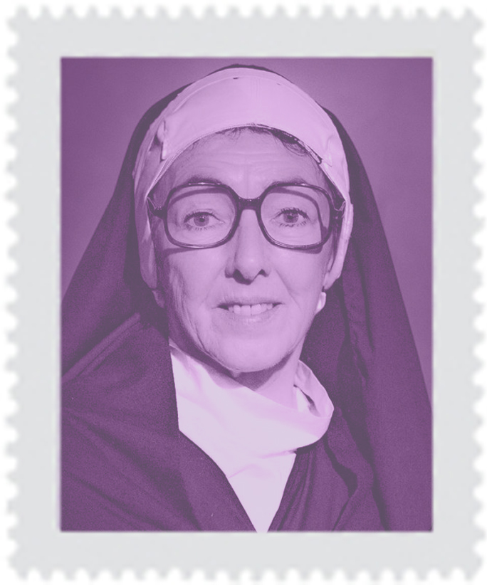 Eileen Coan as Sister Wendy Beckett  (Photo Copyright South London Theatre, 2018)