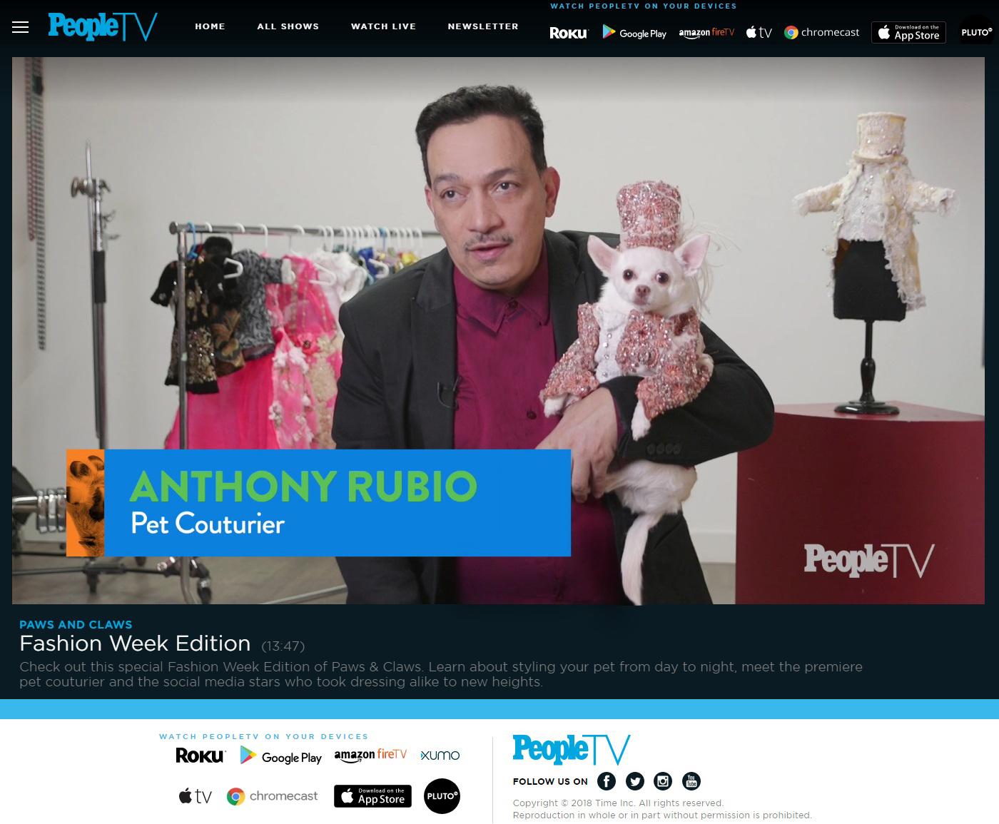 Anthony Rubio, People Magazine, PeopleTV, Press, New York Fashon Week, Art Hearts Fashion, Dog Fashion, Canine Couture, 88 new.jpg