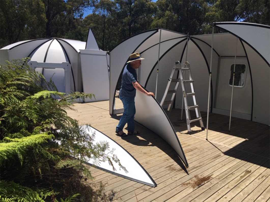 Rapid Deployment - The basic 16 square meter dome can easily be assembled by 2 people in 2 hours. It only requires a level surface to be erected anywhere you go!