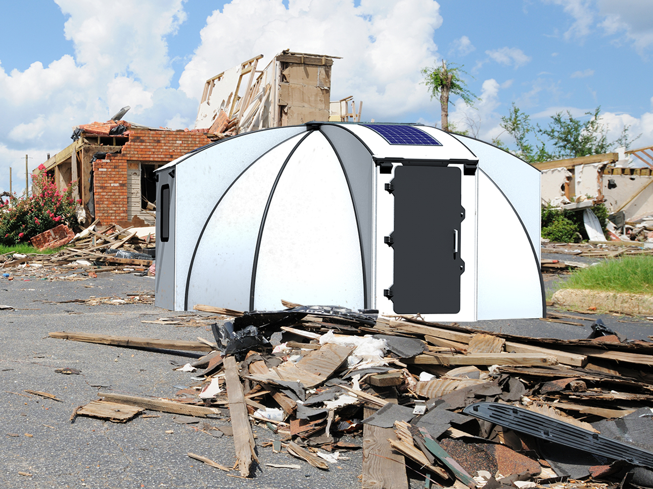 Why the FlexDome? - The FlexDome was originally developed for humanitarian purposes, in response to the 2018 refugee crisis in Europe. We wanted to provide a durable, affordable, flame resistant living solution for families stuck in tents (or worse). Since we have established our company, Capsolate Pty Ltd in 2018, we have realised that the product has multiple other applications; so we are making it available to other markets.