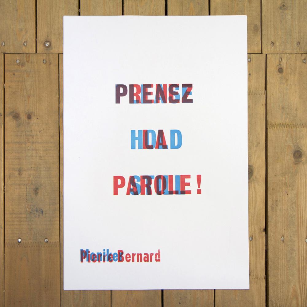 Moniker vs. Pierre Bernard (Please hold still vs. Prenez la parole!)