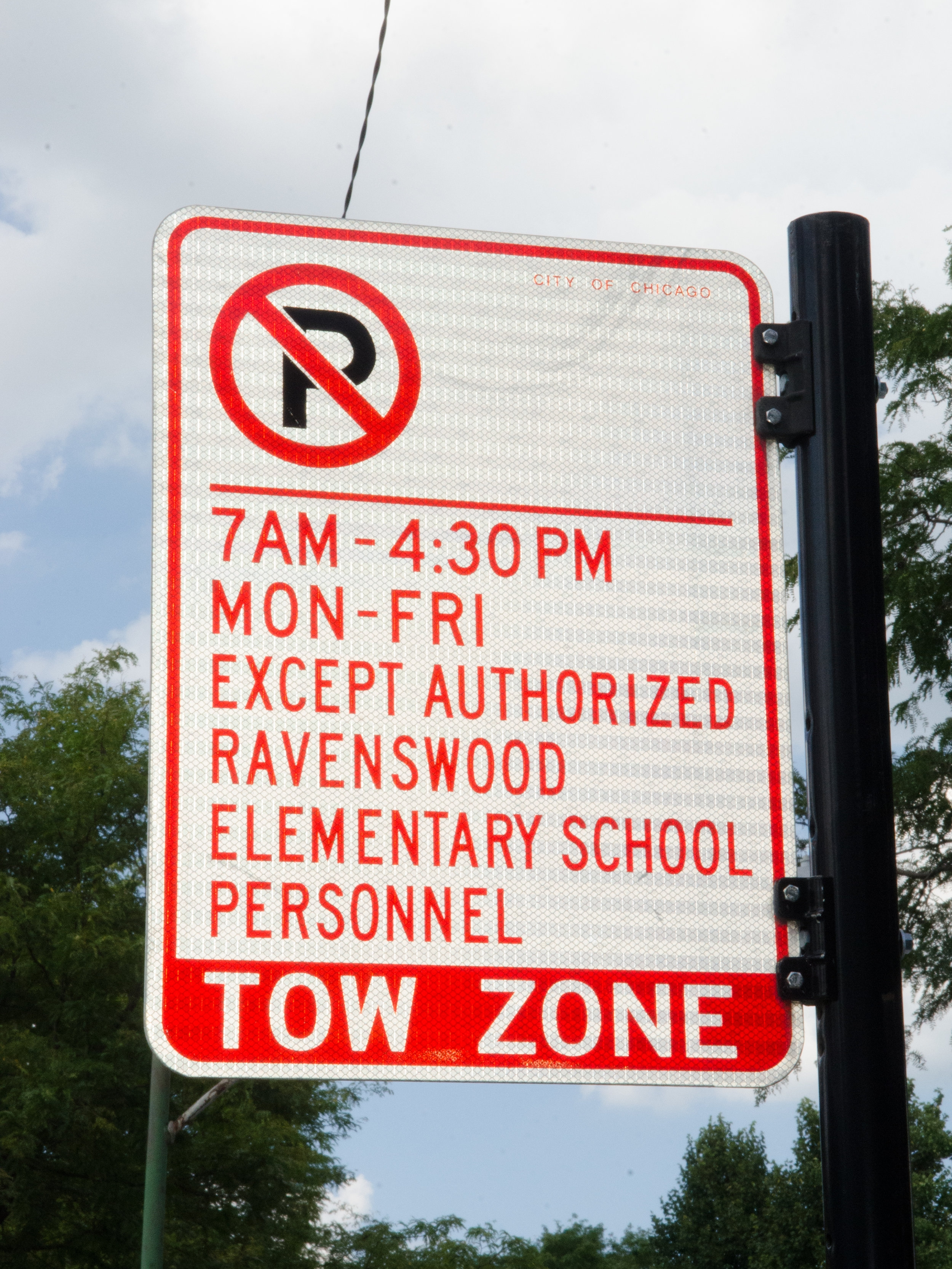 Watch for street signs! Parking is very limited around our school.