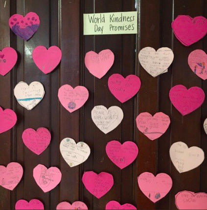 Second graders share what it means to be kind.