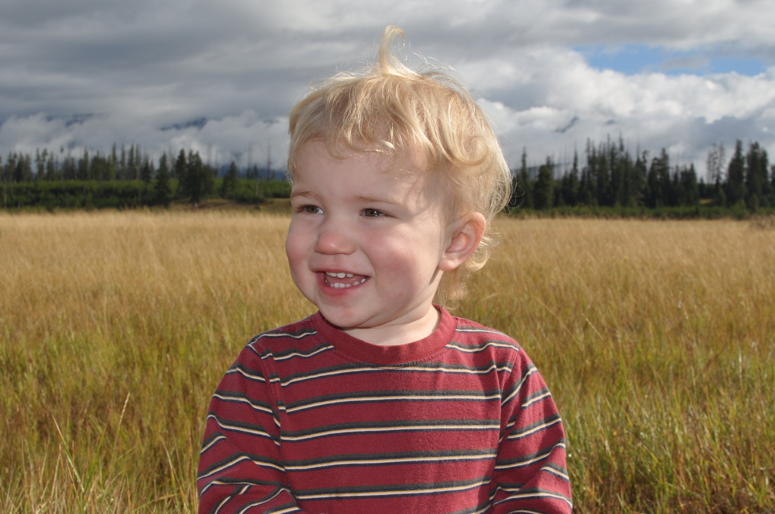 Seamus in August, 2010 on a family vacation in Montana
