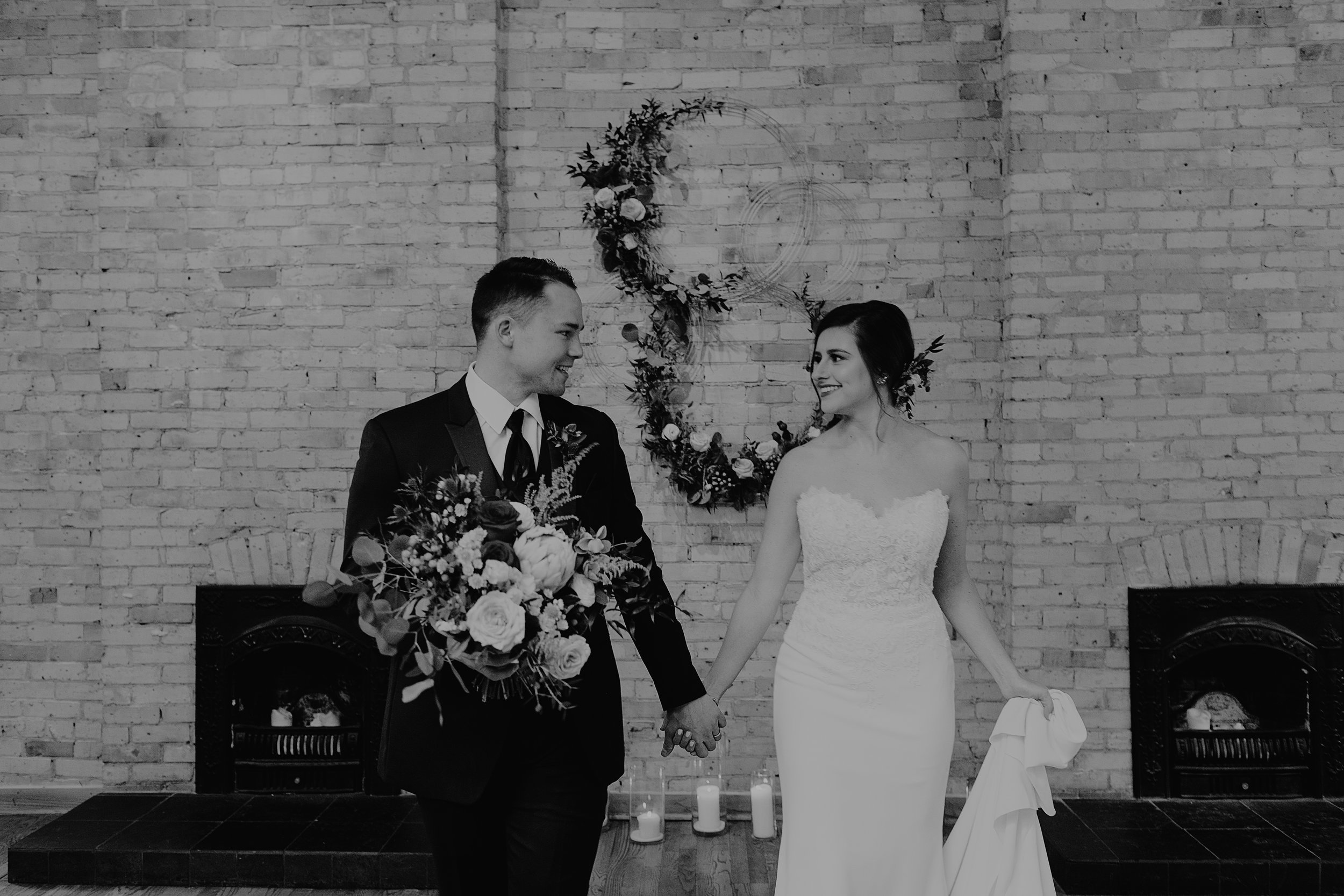 Emma and Buster Elopement - Bride and Groom Black and White Hand in Hand - by Nikki Kate Photography.jpg