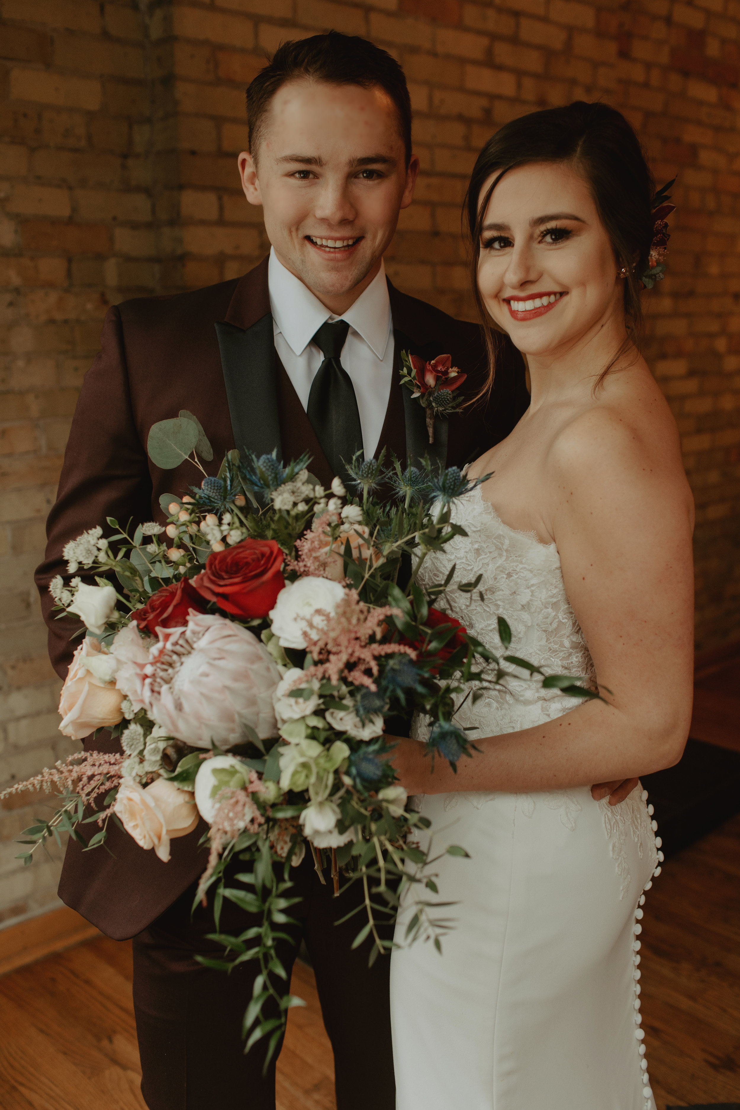 Emma and Buster Elopement - Bride and Groom Close Up Portrait - by Nikki Kate Photography.jpg