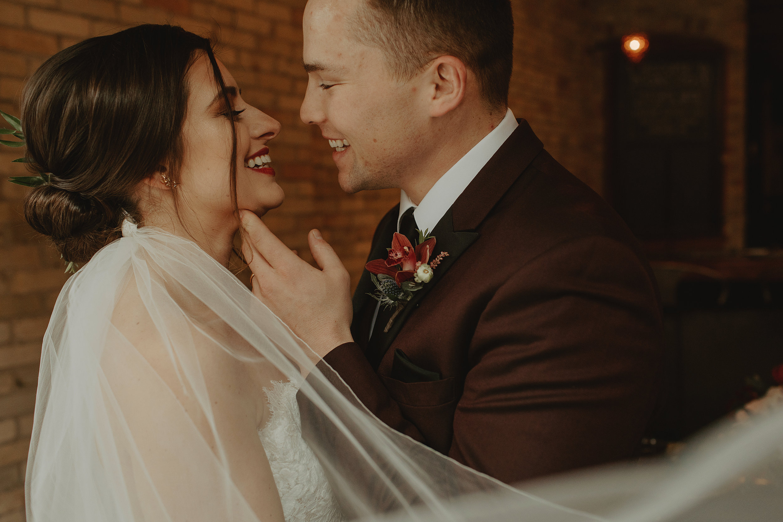 Emma and Buster Elopement - Bride and Groom Veil Photo - by Nikki Kate Photography.jpg