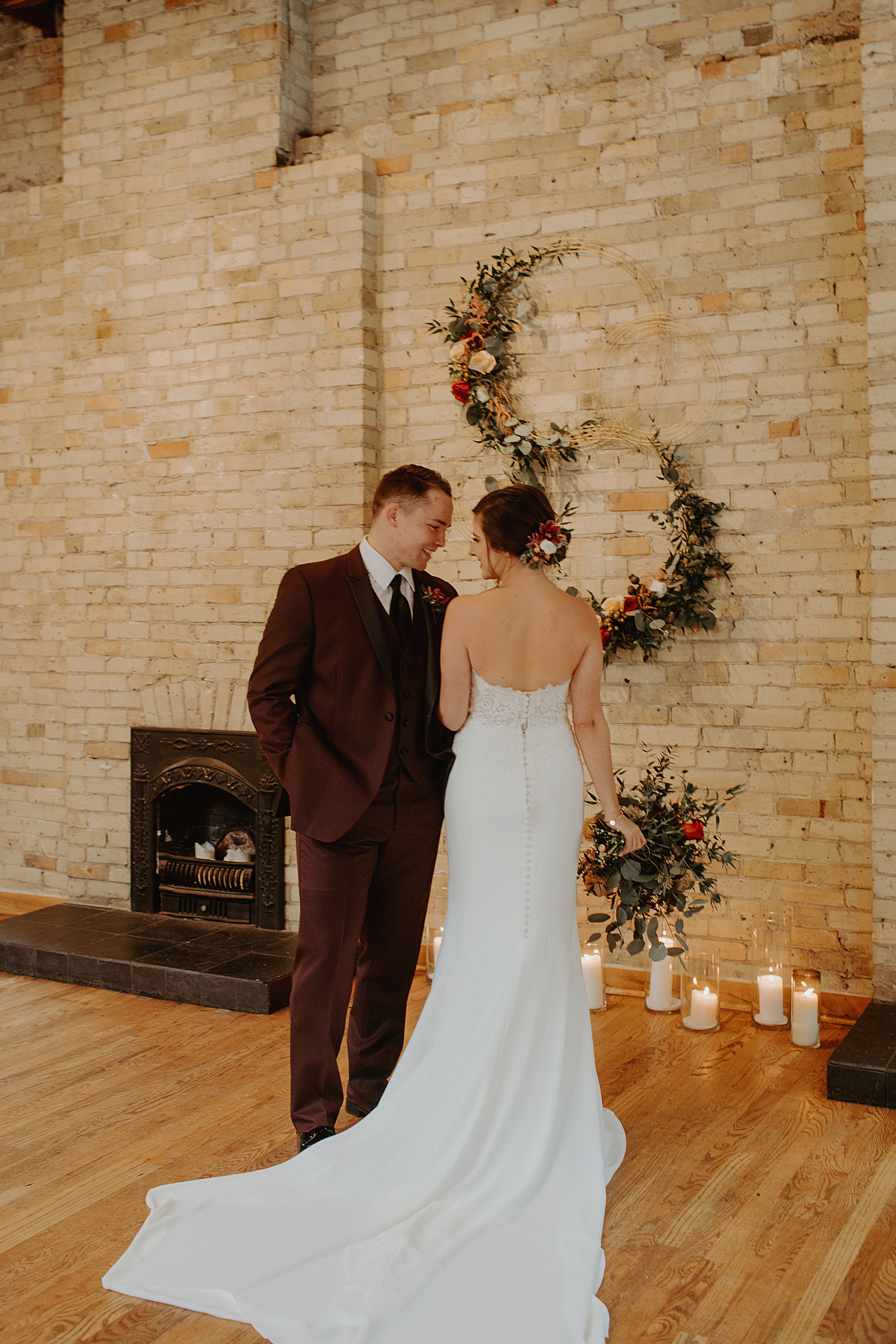 Emma and Buster Elopement - Bride from the Back with Groom - by Nikki Kate Photography.jpg