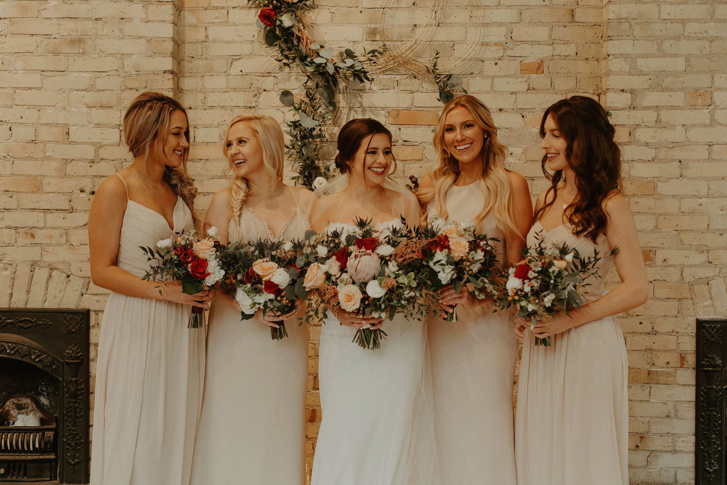 Emma and Buster Elopement - Bridemaids and Bride Portrait - by Nikki Kate Photography.jpg