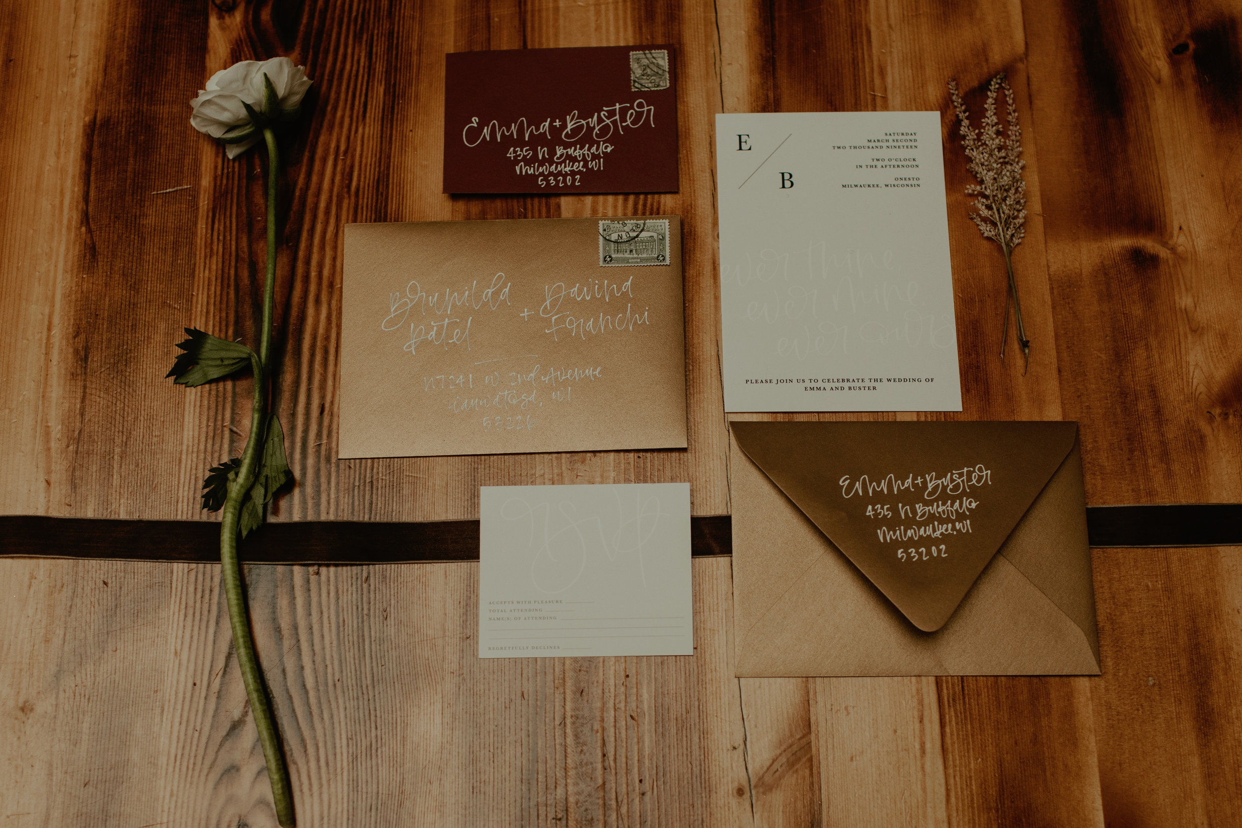 Emma and Buster Elopement - Invitation Suite Close Up - by Nikki Kate Photography.jpg