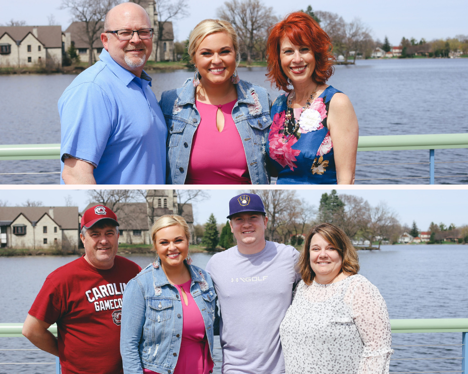 Nautical Bridal Shower at Vino Etcetera in Oconomowoc Wisconsin - The Bride with her Fiance and Family