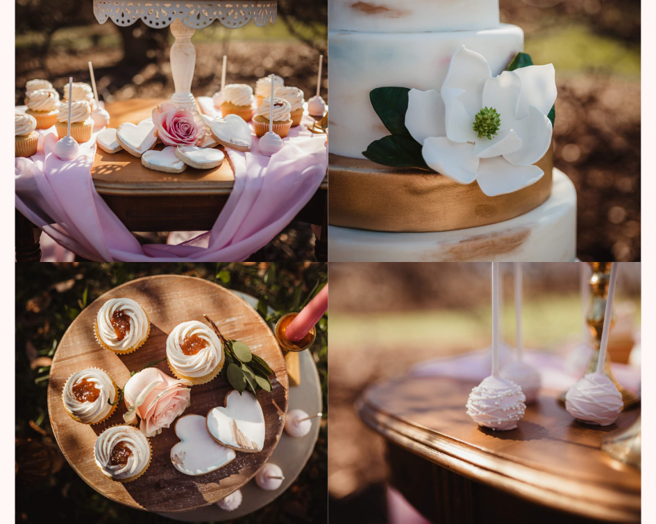 Floral Wedding Cake, Cake Pops, and Cupcakes - Spring Wedding at the UW Madison Arboretum in Madison Wisconsin - Phoenix & Rose Photography