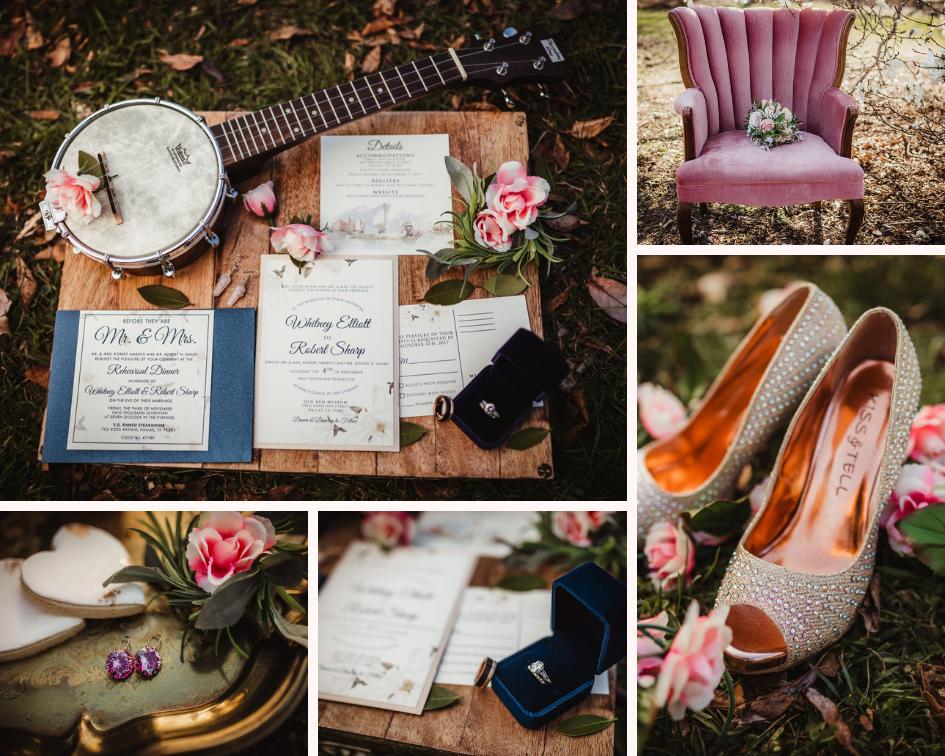 Navy, White, and Blush Wedding Invitation Suite - Spring Wedding at the UW Madison Arboretum in Madison Wisconsin - Phoenix & Rose Photography