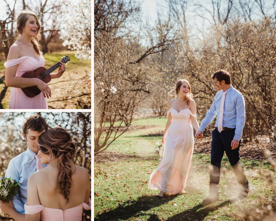 Bridesmaid and Groomsman - Spring Wedding at the UW Madison Arboretum in Madison Wisconsin - Phoenix & Rose Photography