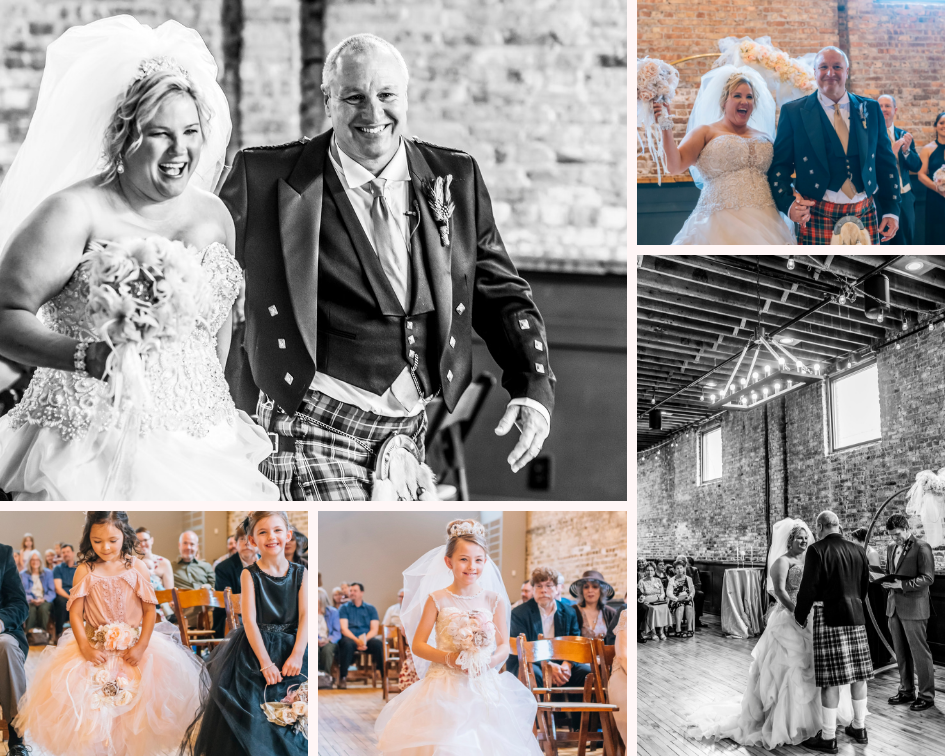 Wedding ceremony photography in Burlington, Wisconsin