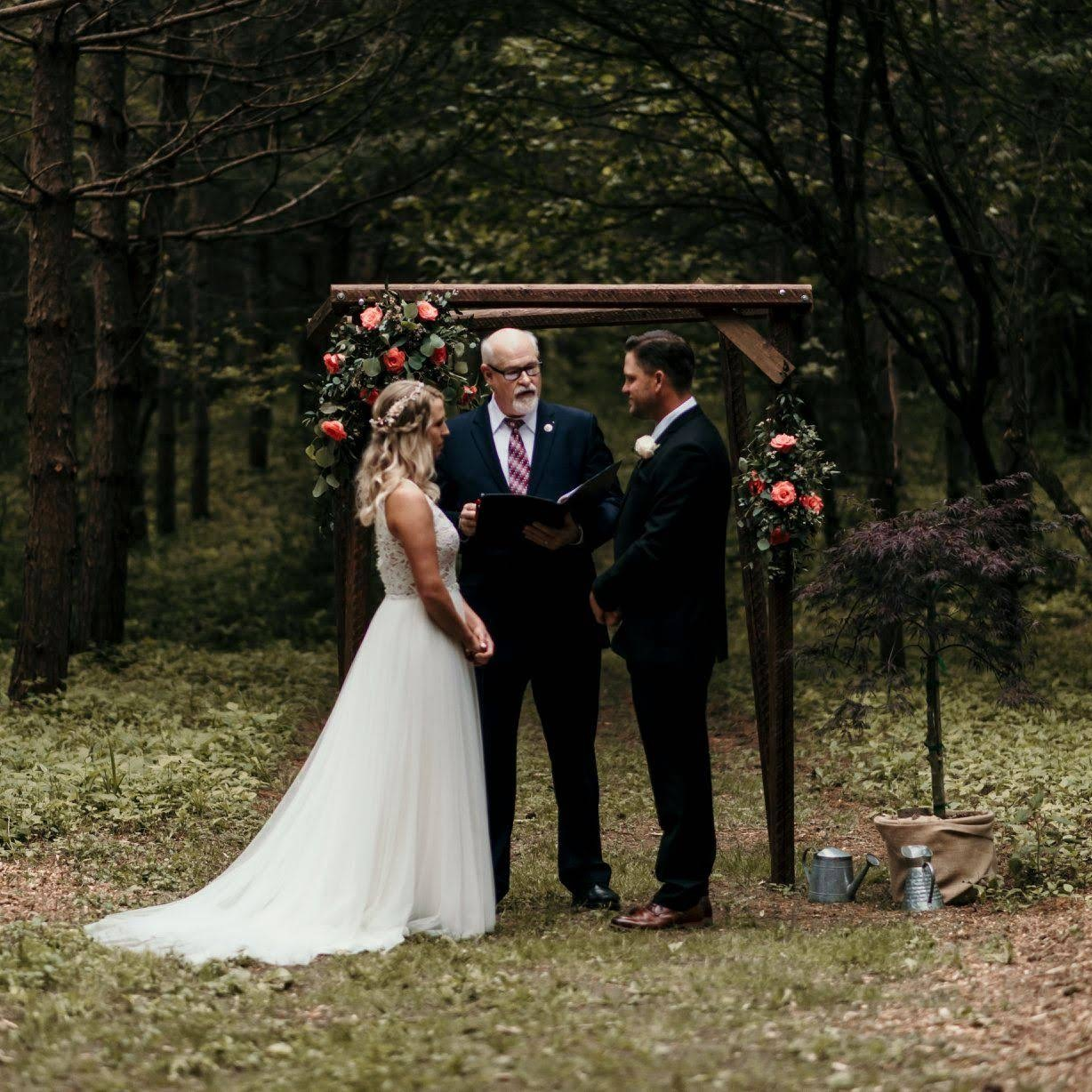 Bride and groom after their elopment deep in the woods - Milwaukee and Wisconsin Micro Wedding Planned by Natural Elegance LLC - Photo by Colorful Dreams 4U.jpg