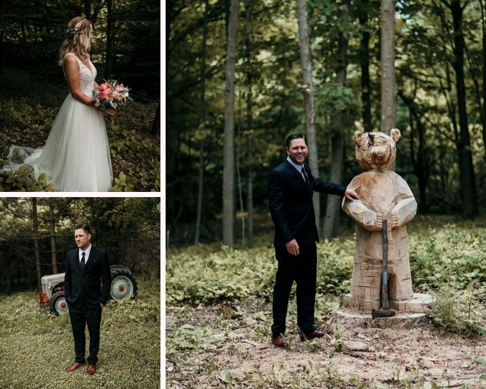 Bride and groom at their June backyard intimate summer wedding in Hubertus Wisconsin - Planned by Natural Elegance LLC - Photo by Colorful Dreams 4U.png