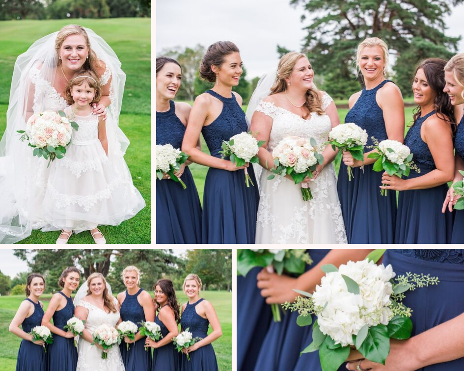 13 lake country wedding at the carriage house at lac labelle in oconomowoc wisconsin - planned by natural elegance llc - photo by spottswood photography - bridal party portraits - bridesmaids in navy blue dresses.png