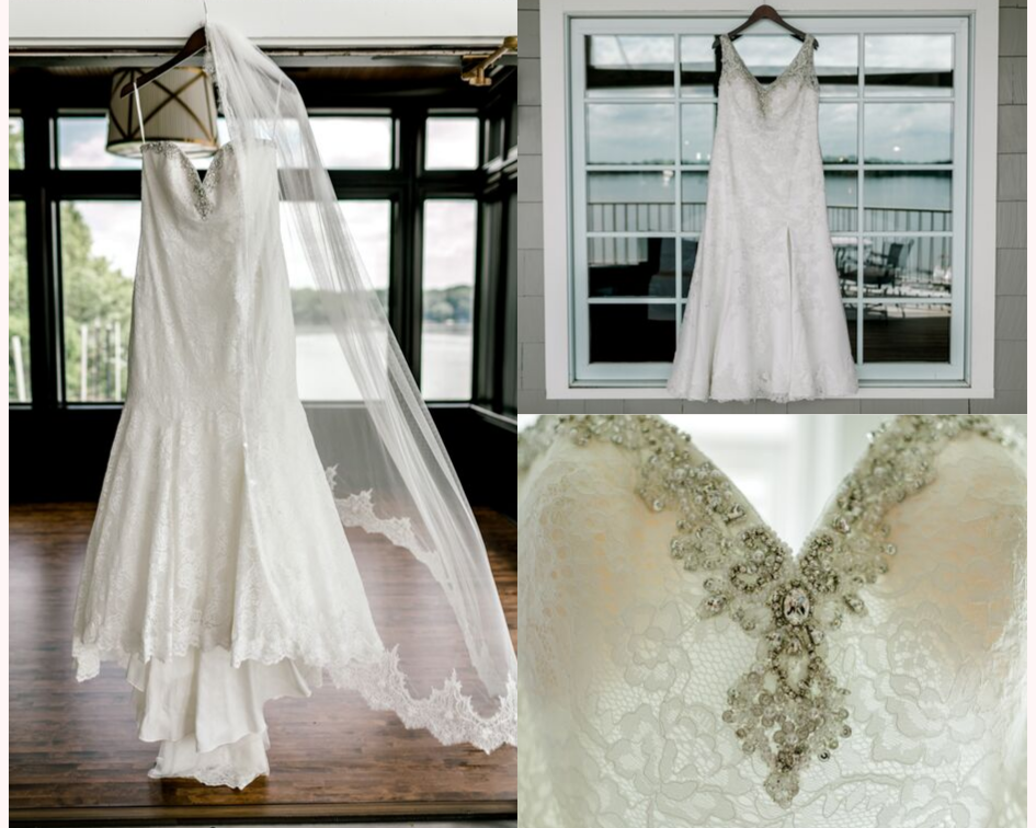 Brides wedding dress details at the Oconomowoc Lake Club - Wedding planned by Natural Elegance LLC and Photo by Faith Photography.png