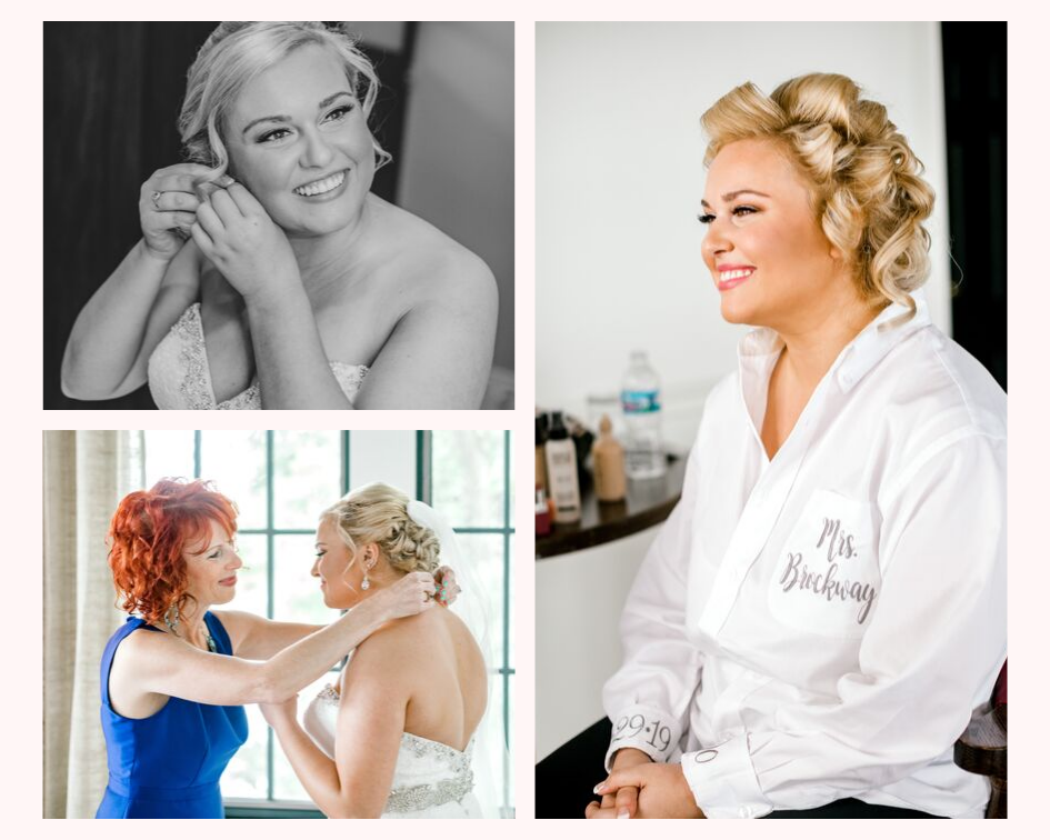 bride getting ready at her lake club wedding at the Oconomowoc Lake Club in Wisconsin - Wedding planned by Natural Elegance LLC and Photo by Faith Photography.png
