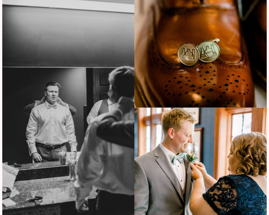 groom getting ready at his lake club wedding at the Oconomowoc Lake Club in Wisconsin - Wedding planned by Natural Elegance LLC and Photo by Faith Photography.png