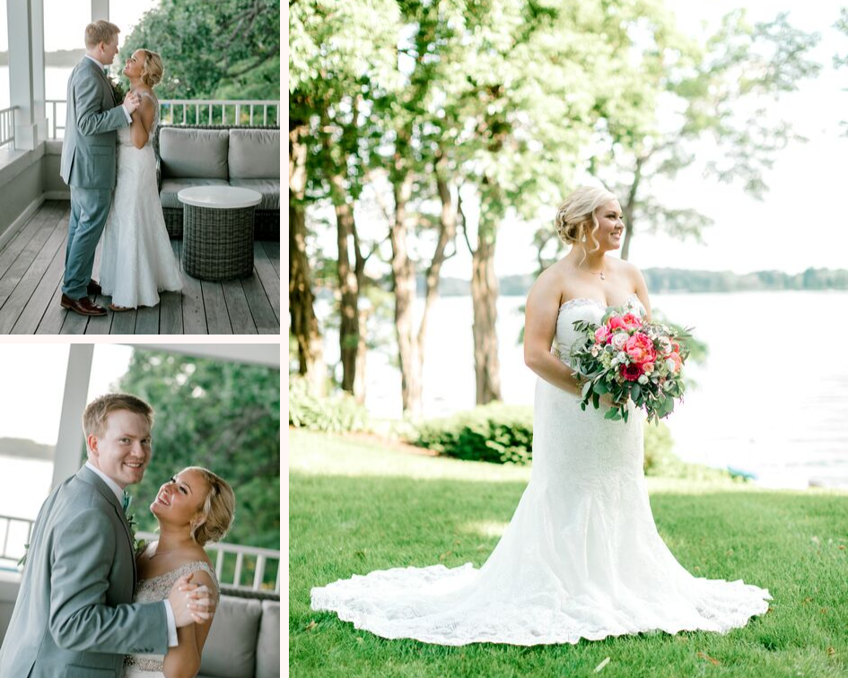 bride and groom wedding photos from a lake club wedding at the Oconomowoc Lake Club in Wisconsin - Wedding planned by Natural Elegance LLC and Photo by Faith Photography.png