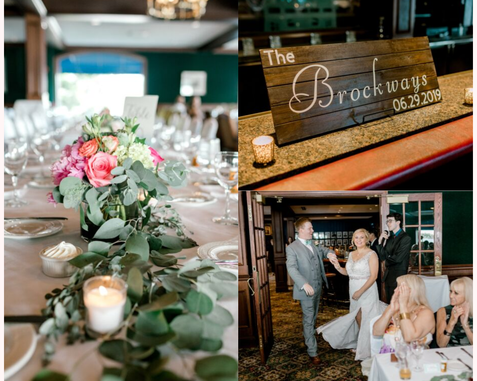 Wedding reception from a lake club wedding at the Oconomowoc Lake Club in Wisconsin - Wedding planned by Natural Elegance LLC and Photo by Faith Photography.png