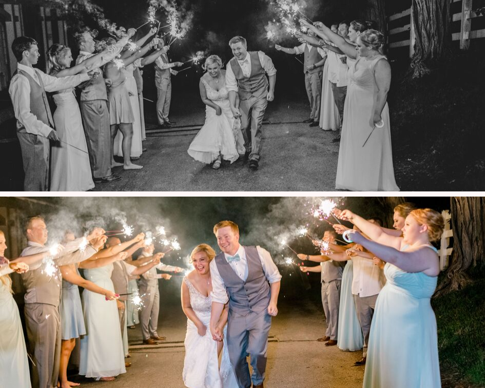 Sparkler send off wedding photos from a lake club wedding at the Oconomowoc Lake Club in Wisconsin - Wedding planned by Natural Elegance LLC and Photo by Faith Photography.png