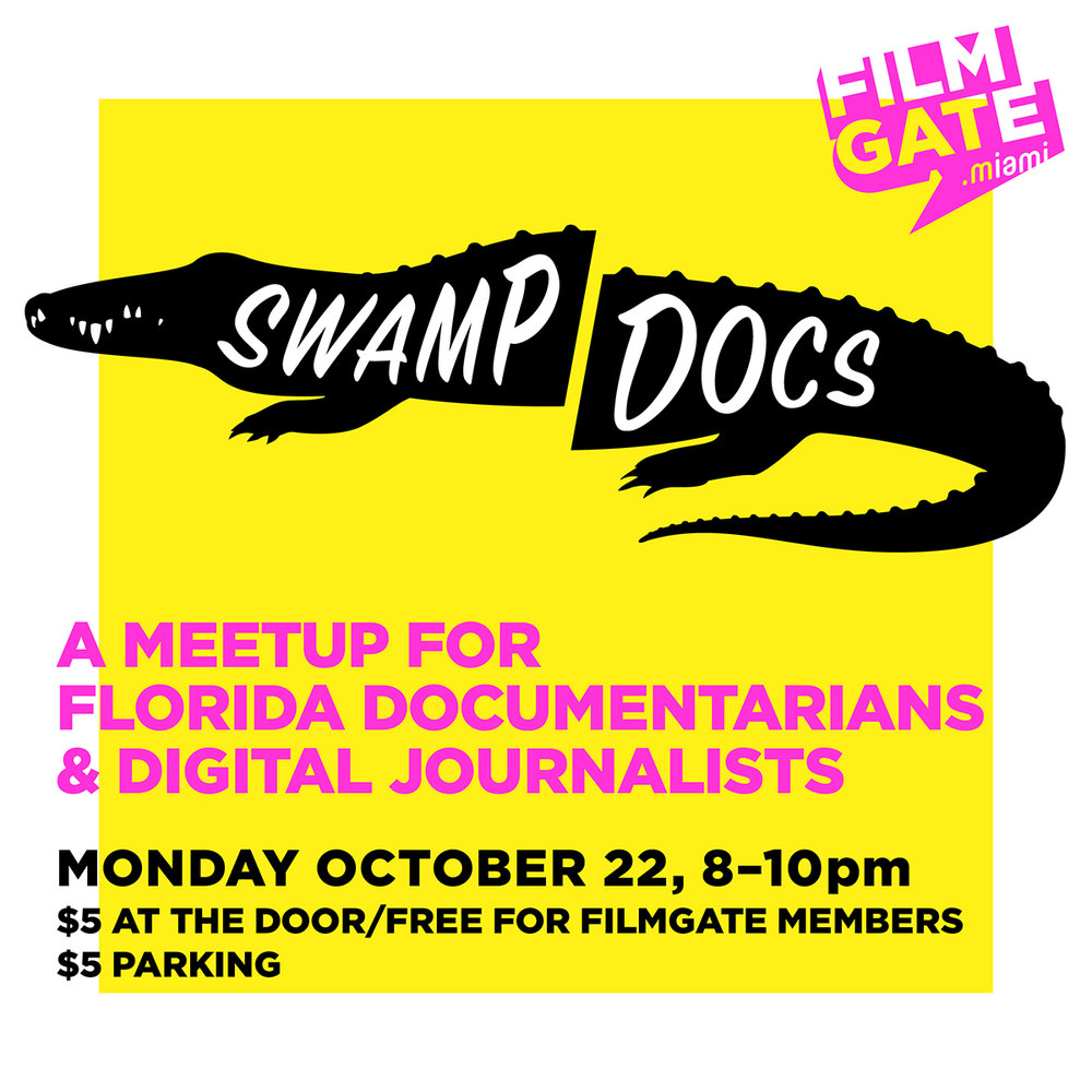 South Florida doc filmmakers - here's a chance to meet up, learn from one another and pitch your ideas.