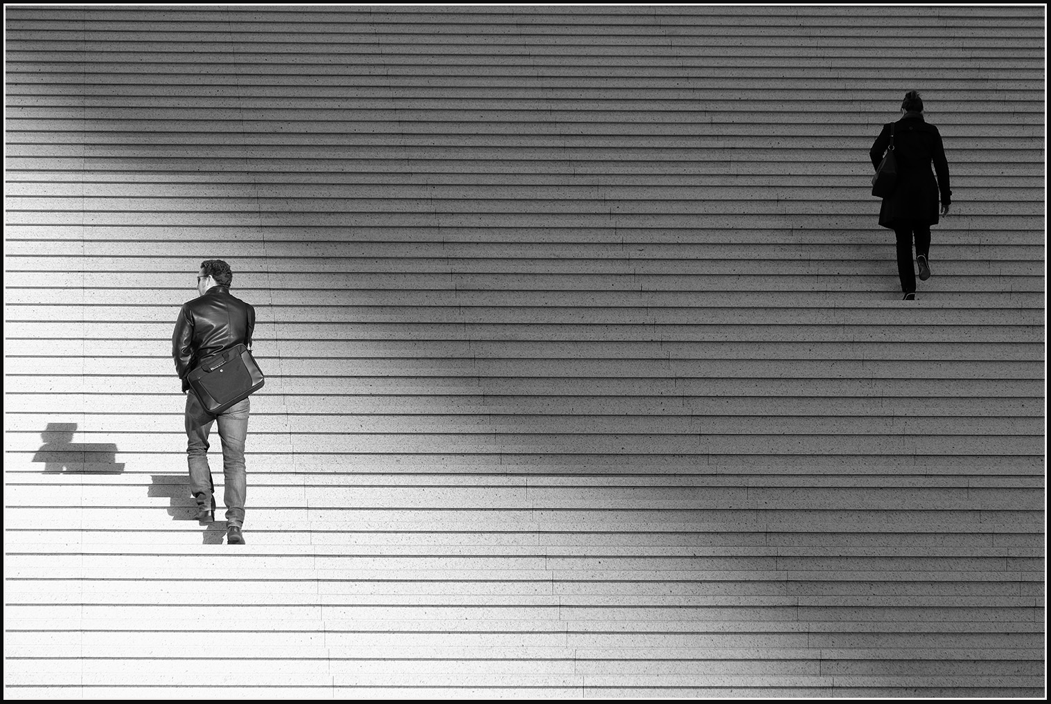 Paris - La Défense District - Stairs leading to: La Grande Arche de la Défense   Fuji XT1 with Fujinon XF 18-135mm © 2017 Miguel Witte